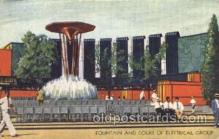 exp100168 - Fountain & Court of Electrical Group 1933 Chicago, Illinois USA Worlds Fair Exposition Postcard Post Card
