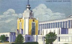 exp100170 - Illinois Host House 1933 Chicago, Illinois USA Worlds Fair Exposition Postcard Post Card