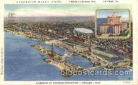 exp100184 - Edgewater Beach Hotel 1933 Chicago, Illinois USA Worlds Fair Exposition Postcard Post Card