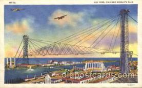 exp100187 - Sky Ride 1933 Chicago, Illinois USA Worlds Fair Exposition Postcard Post Card
