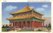 exp100192 - Golden Pavillion of Jehol 1933 Chicago, Illinois USA Worlds Fair Exposition Postcard Post Card
