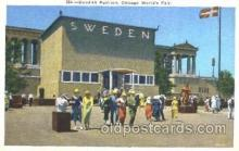 exp100200 - Swedish Building 1933 Chicago, Illinois USA Worlds Fair Exposition Postcard Post Card