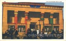 exp100201 - Egyptian Pavilion 1933 Chicago, Illinois USA Worlds Fair Exposition Postcard Post Card