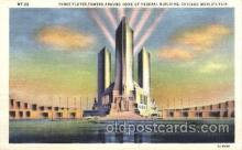 exp100203 - Three Fluted Towers 1933 Chicago, Illinois USA Worlds Fair Exposition Postcard Post Card