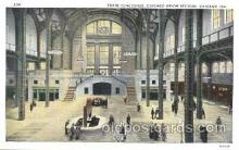 exp100208 - Train Concourse 1933 Chicago, Illinois USA Worlds Fair Exposition Postcard Post Card