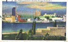 exp100210 - Lagoon and Science Building 1933 Chicago, Illinois USA Worlds Fair Exposition Postcard Post Card