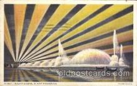 exp100215 - Giant Fountain 1933 Chicago, Illinois USA Worlds Fair Exposition Postcard Post Card