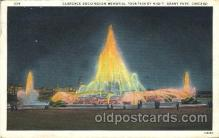 exp100217 - Clarence Buckingham Memorial Fountain 1933 Chicago, Illinois USA Worlds Fair Exposition Postcard Post Card