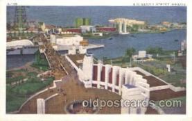 exp100223 - Sixteenth Street Bridge 1933 Chicago, Illinois USA Worlds Fair Exposition Postcard Post Card
