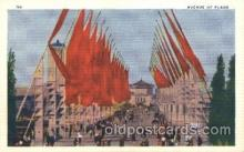 exp100239 - Avenue of Flags 1933 Chicago, Illinois USA Worlds Fair Exposition Postcard Post Card
