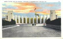 exp100241 - Hall of Science 1933 Chicago, Illinois USA Worlds Fair Exposition Postcard Post Card