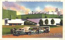 exp100253 - Giant Fountain 1933 Chicago, Illinois USA Worlds Fair Exposition Postcard Post Card