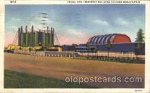 exp100275 - Travel and transport building Chicago Worlds Fair 1933, Exposition Postcard Post Card