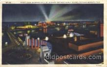 exp100280 - Night view Chicago Worlds Fair 1933, Exposition Postcard Post Card