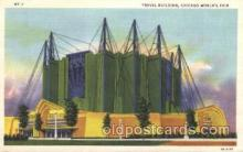 exp100282 - Travel Building Chicago Worlds Fair 1933, Exposition Postcard Post Card