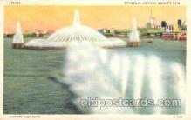 exp100285 - Fountain Chicago Worlds Fair 1933, Exposition Postcard Post Card