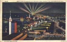 exp100286 - Night view Chicago Worlds Fair 1933, Exposition Postcard Post Card