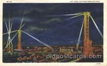 exp100287 - Sky ride Chicago Worlds Fair 1933, Exposition Postcard Post Card