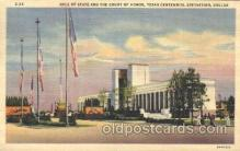 exp110023 - Hall of state Texas Centenial 1936 Exposition Postcard Post Card