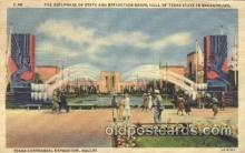 exp110027 - Esplanade of state Texas Centenial 1936 Exposition Postcard Post Card