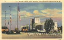 exp110028 - Hall of state Texas Centenial 1936 Exposition Postcard Post Card