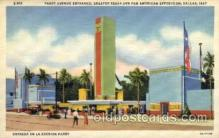 exp110044 - Parry Avenue Enterance Pan American Exposition 1937 Dallas Texas USA, Postcard Post Card