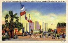 exp110051 - Patio De Honor   Pan American Exposition 1937 Dallas Texas USA, Postcard Post Card