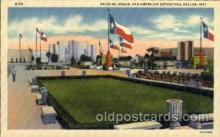 exp110061 - Patio De Honor Pan American Exposition 1937 Dallas Texas USA, Postcard Post Card