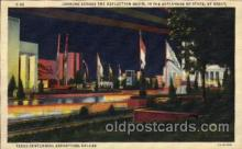 exp110065 - Looking across the Reflection Basin 1936 Dallas Texas USA, Centenial Exposition Postcard Post Card