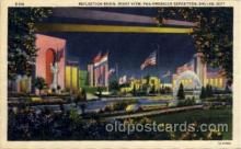 exp110066 - Reflection Basin, Night View Pan American Exposition 1937 Dallas Texas USA, Postcard Post Card