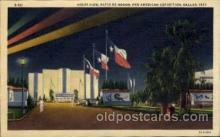exp110068 - Night View, Patio De Honor Pan American Exposition 1937 Dallas Texas USA, Postcard Post Card