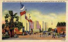 exp110069 - Patio De Honor, Showing Pan American Exhibit Building Pan American Exposition 1937 Dallas Texas USA, Postcard Post Card