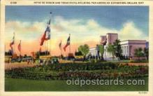 exp110074 - Patio De Honor and Texas USA State Building Pan American Exposition 1937 Dallas Texas USA, Postcard Post Card