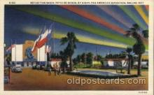 exp110076 - Reflection Basin, Patio De Honor Pan American Exposition 1937 Dallas Texas USA, Postcard Post Card