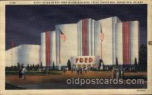 exp110079 - Ford Motor Building 1936 Dallas Texas USA, Centenial Exposition Postcard Post Card