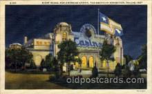 exp110083 - Pan American Casino Pan American Exposition 1937 Dallas Texas USA, Postcard Post Card