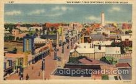 exp110088 - The Midway 1936 Dallas Texas USA, Centenial Exposition Postcard Post Card