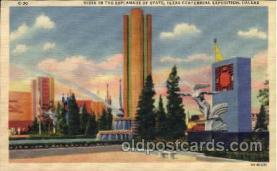 exp110093 - Vista in the Esplanade of State 1936 Dallas Texas USA, Centenial Exposition Postcard Post Card