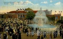 exp120002 - Gooderhan Fountain, Canadian National Exposition, Toronto Canada, 1936 Worlds Fair Postcard Post Card