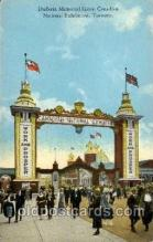 exp120007 - Dufferin Memorial Gate, Canadian National Exposition, Toronto Canada, 1936 Worlds Fair Postcard Post Card