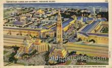 exp130003 - Golden Gate Exposition 1939 - 1940, California World's Fair on San Francisco Bay, Postcard Post Card