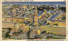 exp130003 - Golden Gate Exposition 1939 - 1940, California World's Fair on San Francisco Bay, Postcard Post Card