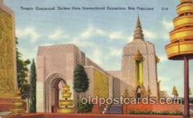 exp130007 - Golden Gate Exposition 1939 - 1940, California World's Fair on San Francisco Bay, Postcard Post Card