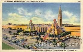 exp130008 - Golden Gate Exposition 1939 - 1940, California World's Fair on San Francisco Bay, Postcard Post Card