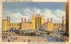exp130009 - Golden Gate Exposition 1939 - 1940, California World's Fair on San Francisco Bay, Postcard Post Card
