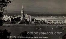 exp130012 - Golden Gate Exposition 1939 - 1940, California World's Fair on San Francisco Bay, Postcard Post Card