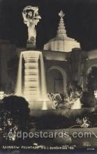 exp130031 - Railway Fountain 1939 Golden Gate International Exposition San Francisco Bay, California, USA Postcard Post Card