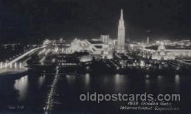 exp130034 - 1939 Golden Gate International Exposition San Francisco Bay, California, USA Postcard Post Card