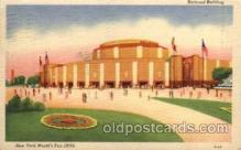 exp150017 - New York Worlds Fair 1939 exhibition postcard Post Card