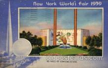 exp150032 - New York Worlds Fair 1939 exhibition postcard Post Card